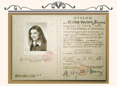 Dyplom Joanny Michałowskiej